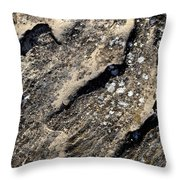 Shadows On A Block Of Sandstone Throw Pillow
