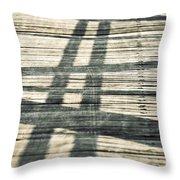 Shadows On A Wooden Board Bridge Throw Pillow
