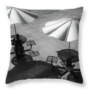 Shadows On Campus Throw Pillow