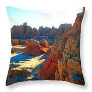 Shadows On The Badlands Throw Pillow