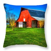 Shadows On The Barn Tennessee Farm Art Throw Pillow