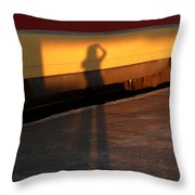Shadows On The Platform 2 Throw Pillow