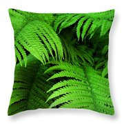 Shadowy Fern Throw Pillow