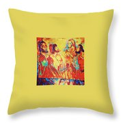 Shadrach, Meshach And Abednego In The Fire With Jesus Throw Pillow