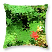 Shady Composition Throw Pillow