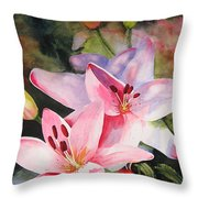 Shady Ladies Throw Pillow