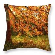 Shady Oak Throw Pillow