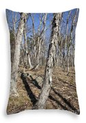 Shagbark Hickory Forest  Throw Pillow