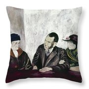 Shahn: Man & Women Throw Pillow