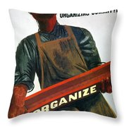 Shahn: Steel Union Poster Throw Pillow