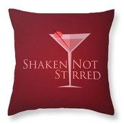 Shaken Not Stirred Throw Pillow