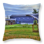 Shaker Barn And Sorghum Mill Throw Pillow