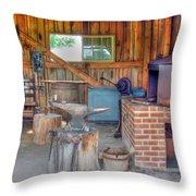 Shaker Blacksmith Barn Throw Pillow