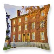 Shaker Brick Building Throw Pillow