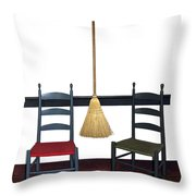 Shaker Chairs And Broom Throw Pillow
