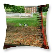 Shaker Chickens Throw Pillow