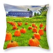 Shaker Pumpkin Harvest Throw Pillow