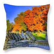 Shaker Stone Fence 7 Throw Pillow