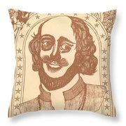 Shakespeare Throw Pillow