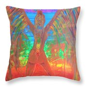 Shakti Angel Throw Pillow