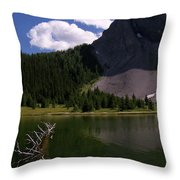 Shallow Mountain Lake Throw Pillow