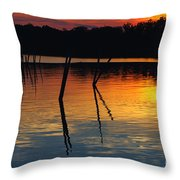 Shallow Water Sunset Throw Pillow