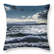 Shallows And Depths Of Adventure Bay Throw Pillow