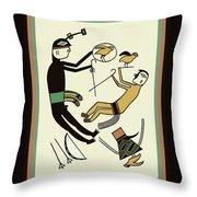 Shaman Hunting Ritual Dream Throw Pillow