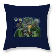 Shaman's Moon Throw Pillow