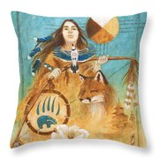 Shaman's Path Throw Pillow