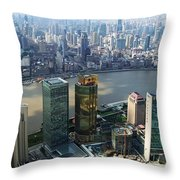 Shanghai By The River Throw Pillow