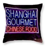 Shanghai Chinese Food Throw Pillow