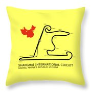 Shanghai Circuit Throw Pillow