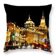 Shanghai City 1 Throw Pillow