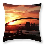 Shanghai City 12 Throw Pillow