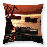 Shanghai City 14 Throw Pillow