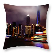 Shanghai Exposed Throw Pillow