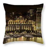Shanghai Nights Throw Pillow