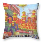 Shanghi Lanterns II Throw Pillow