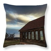 Shaniko Schoolhouse Throw Pillow