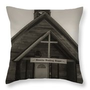 Shaniko Wedding Chapel Throw Pillow