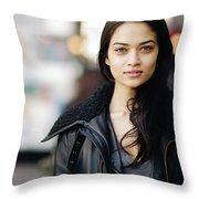 Shanina Shaik Throw Pillow
