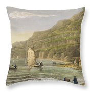 Shanklin Bay Throw Pillow