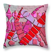 Shape Sets In Red Throw Pillow