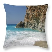 Shaped By The Sea  Throw Pillow