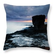 Shaped By The Waves Throw Pillow by Mike  Dawson