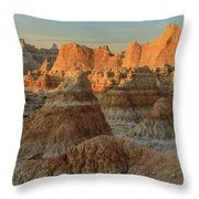 Shapely Mud Throw Pillow