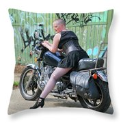 Shapely Sidestand Throw Pillow