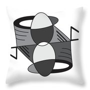 Shapeplay38 Throw Pillow