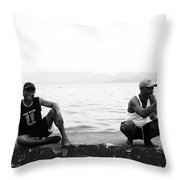 Shapers Throw Pillow